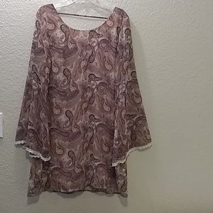 Xhilaration Paisley Print Dress Size 2XL